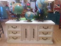 Bassett Changing Table Antique White Dresser Buffet Changing Table Media Center Ornate