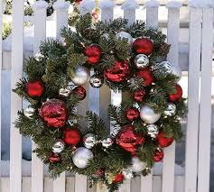 attractive exterior wreaths modern at dining table