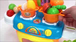 Plastic Toy Kitchen Set Best Toy Kitchen Food Name Videos For Kids Preschool Educational