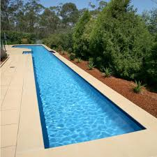 pool design sample of lap pool design with block paving and green