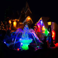 led christmas water fountain musical colour changing table top