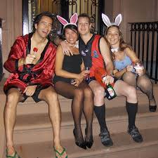 Cheap Playboy Bunny Halloween Costumes Hugh Hefner Playboy Bunnies Group Costume Idea Creative Group