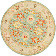 light blue round area rug heritage light blue ivory 10 ft x 10 ft round area rug round
