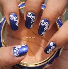 rose nail art simple images