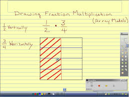 drawing fraction multiplication array model youtube