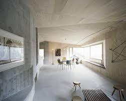 solid concrete house architecture and minimalist interior design