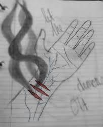 drawn sad deep pencil and in color drawn sad deep