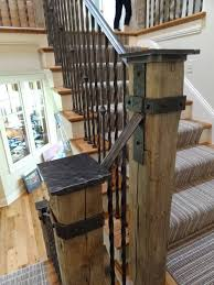 Wood Banisters And Railings Best 25 Rustic Stairs Ideas On Pinterest Industrial Basement