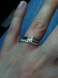 princess cut wedding ring okay to mix princess cut e ring with a cut wedding