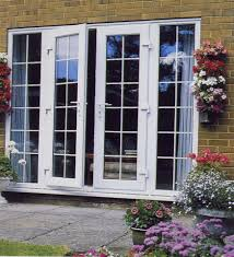 wooden and glass doors exterior wooden doors with glass panels and painted with white