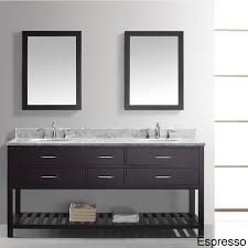sophisticated espresso 60 inch double sink vanity console added