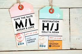 luggage tag save the date save the date luggage tag invitation magnetic luggage tag with