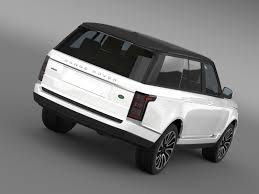 range rover autobiography custom range rover autobiography v8 l405 3d model vehicles 3d models avto