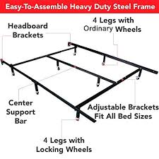 bed frame middle support legs wood bed rail center support legs