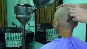 straight razor head shave youtube