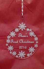Baby First Christmas Tree Bauble by Personalised Baby U0027s First 1st Christmas Tree Baubles Present Gift
