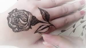 hathon ki mehndi ke dizain rose design flower tattoo youtube