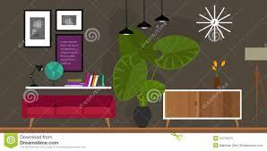 living room home interior vector illustration stock vector image