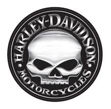 harley davidson decal silver willie g skull logo x large 29 inch