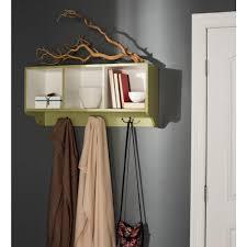 prepac 60 in wall mounted coat rack in white wec 6016 the home