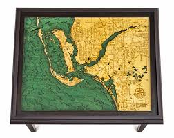 Map Fort Myers Florida by Custom Wood Charts Of Ft Myers And Cape Coral End Table From