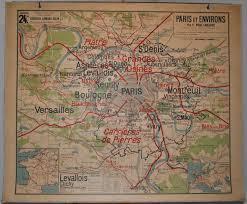 Paris World Map by No 24 Vidal Lablache Paris Capital