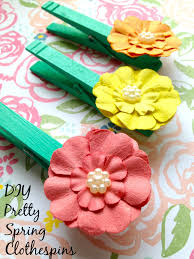 pretty spring diy clothespins home decor craft surviving a