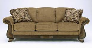 traditional sofas with wood trim new sofa traditional with wood trim fabric calgary furniture within