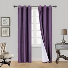 2pc purple adam foam lined heavy thick blackout grommet window