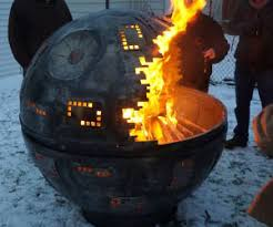 Concrete Fire Pit Exploding by Death Star Fire Pit
