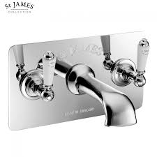 3 Hole Taps Bathroom St James Wall Mounted 3 Hole Bath Filler Tap With Wall Plate Uk
