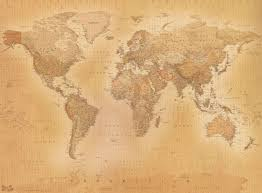world map mural wallpaper uk wall murals you ll love vintage 1942 map of the world wall mural