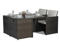 8 Seat Patio Dining Set - savannah giardino rattan garden furniture glass cube dining table