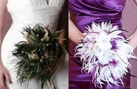 Purple And White Wedding Feather Bouquets U2013 Wedding Flower Alternative Wedding Inspirasi