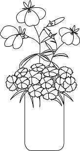 un bouquet de fleurs à colorier coloriages pinterest