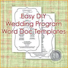 wedding program templates word template wedding programs template for word program