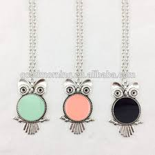 Engraved Monogram Necklace Personalized Monogram Owl Pednent Necklace Buy Personalized