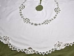 white tree skirt battenburg christmas tree skirt
