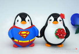 superman cake toppers superman wedding cake toppers custom penguin superman cake topper