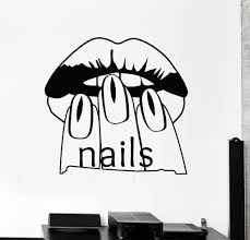 Wall Nails by Vinyl Wall Decal Nail Salon Beauty Woman Manicure Spa Stickers