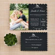 trending bracket rustic chalkboard wedding invitations with photos