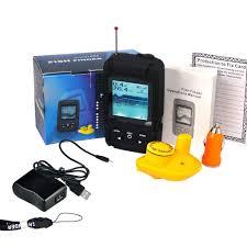 rechargeable wireless 40m depth fish finder w 180m wireless