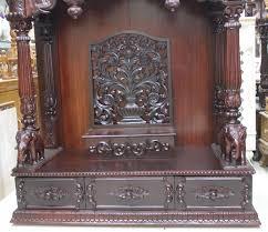 buy beautiful wooden puja mandir for home exporter manufacturer