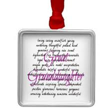 great granddaughter ornaments keepsake ornaments zazzle