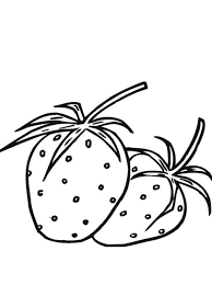strawberry fruit coloring pages free fruits coloring pages of