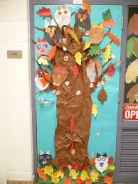 door decorations for thanksgiving happy school turkey fall