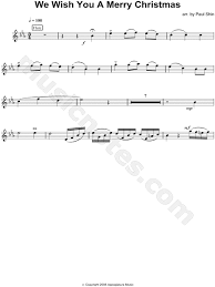 traditional we wish you a merry flute sheet