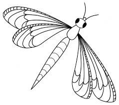 simple dragonfly drawing dragonfly colouring sheets simple