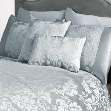 marston damask duvet cover embossed floral motif duckegg cream