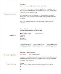 Sample 1 Page Resume by 1 Page Resume Sample Ecordura Com